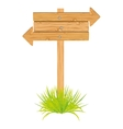 wooden arrow guide sign vector image vector image
