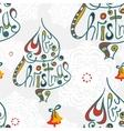 Merry christmas congratulation seamless pattern vector image