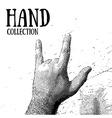 hand rocknroll vector image