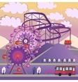 01 City Amusement park vector image vector image