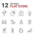 12 toddler icons vector image vector image