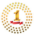 1st anniversary year celebration logotype logo