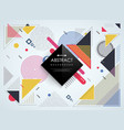 abstract colorful memphis geometric pattern vector image vector image