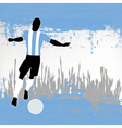 Argentina football vector image