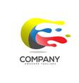 art circle colorful logo vector image vector image