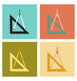 assembly flat icons ruler compass vector image vector image