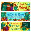back to school autumn season banners vector image vector image