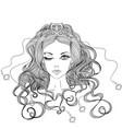 beautiful winking gir vector image vector image