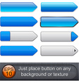 Blue high-detailed modern buttons vector image vector image