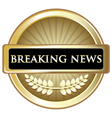 Breaking News Vintage Label vector image
