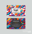 business card design with colorful isometric vector image vector image