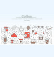 coffee advertising flat line art vector image vector image
