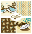 coffee design set vector image vector image