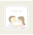 Couple in love1 vector image vector image