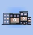 cross platform development website concept vector image vector image