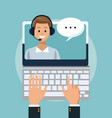 customer service and support vector image
