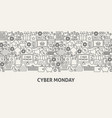 cyber monday banner concept vector image