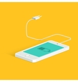 Flat image of phone cable and charger vector image vector image
