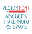 font with pencil alphabet typography design vector image vector image