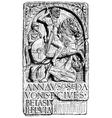 German horseman in Roman army vector image