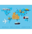 Global Logistic shipping and service worldwide vector image