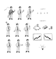 Hand drawn set for doodle animation vector image vector image