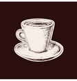 Hand Drawn Sketch Coffee Cup vector image vector image