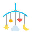 hanging toys flat icon baby crib toys vector image vector image