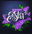 happy easter card with lettering rhombus vector image vector image