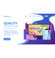 high quality sign concept landing page vector image vector image