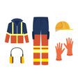 industrial security equipment icons vector image vector image