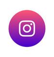 instagram icon vector image vector image