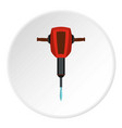 jackhammer icon flat style vector image vector image