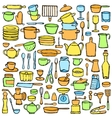 Kitchen Colorful Doodle Set vector image vector image