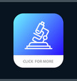 lab microscope science zoom mobile app button vector image vector image