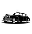 limousine silhouette vector image
