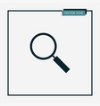 magnifier icon simple vector image vector image