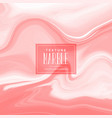 marble pattern in red pastel shade vector image vector image
