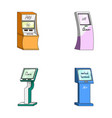 medical terminal atm for paymentapparatus for vector image vector image