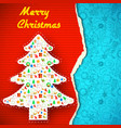merry christmas festive background vector image vector image