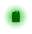 Metal canister comics icon vector image vector image