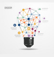 Modern Design light dot Minimal style infographic vector image vector image