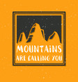 mountain with texture sketch vector image