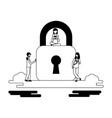 outdoor security people vector image