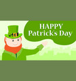 saint patricks day character leprechaun with vector image