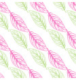 seamless pattern with colored outline vector image vector image