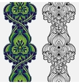 Set of seamless ornamental ethnic floral vertical vector image