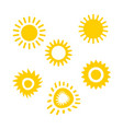 set of sun icon for web design eps 10 vector image vector image