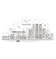 singapore architecture line skyline vector image vector image