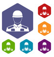 Soldier icons set vector image